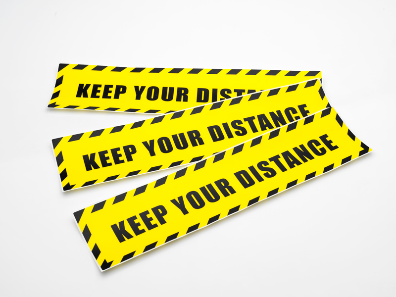 Keep your distance Label